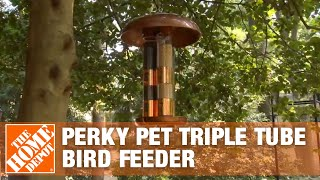 Perky Pet Triple Tube Bird Feeder - The Home Depot