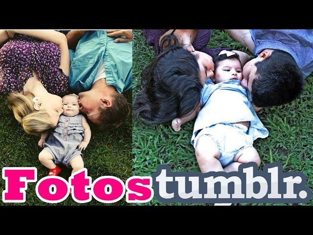 Imitando FOTOS TUMBLR de BEBÊ - em FAMILIA