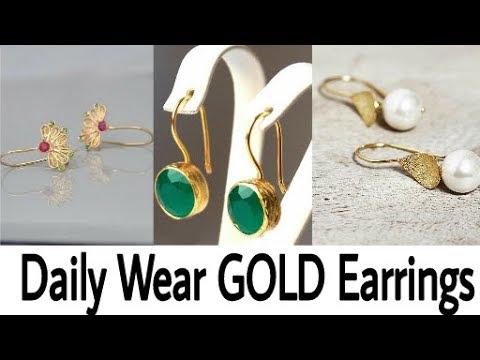 daily wear 2 3 gm gold earrings design ideaslatest gold earringgold earringsbeautiful you - Earring Design Ideas