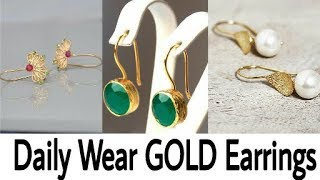 Daily wear 2-3 gm Gold Earrings Design ideas|Latest Gold Earring|Gold Earrings|Beautiful You