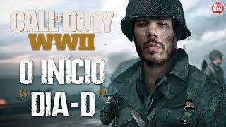 """CALL OF DUTY WWII - O INÍCIO DA CAMPANHA   """"DIA D""""   Dublado e Legendado em Português (PT BR)"""