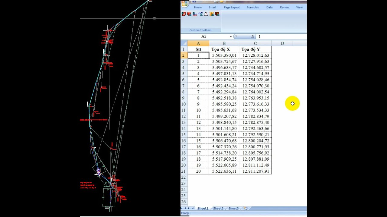 ♥️ Lấy tọa độ điểm trên autocad xuất sang excel – Lấy tọa độ nhiều điểm, thao tác nhanh và đơn giản