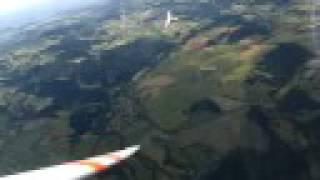 Planeurs en spirale au-dessus du Puy Loudes