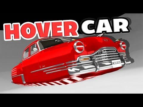 400 MPH HOVERCAR? FLYING CAR VS CAR JUMP ARENA! - BeamNG Drive Hover Car Mod