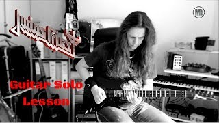 Judas Priest - Lightning Strike Guitar Solo Lesson w/tabs and Backing Track