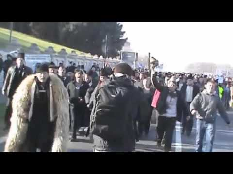 Romanian Shepherds Protest 15.12.2015  Government Breached !! MUST WATCH