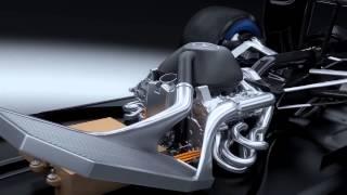 F1 2014   Mercedes AMG   V6 turbo 3D animation