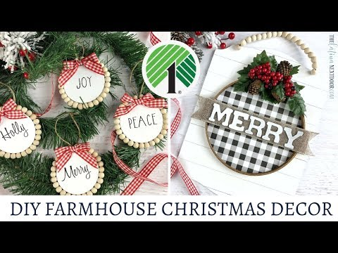 Dollar Tree Farmhouse Christmas DIY 2019 - Christmas in July