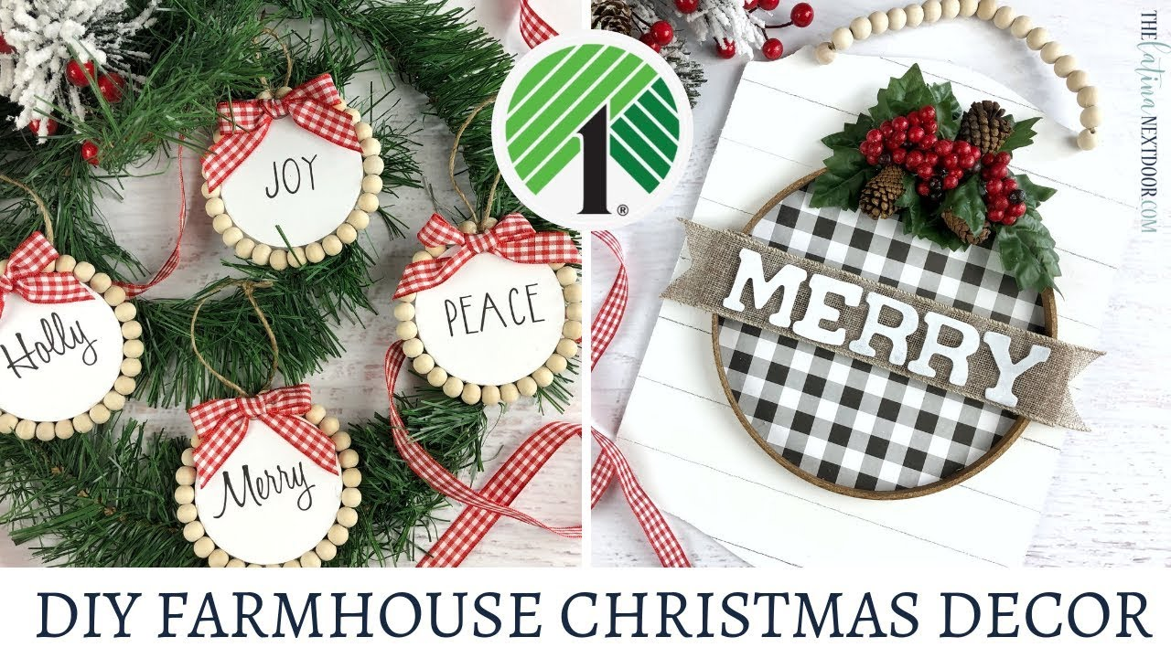 Dollar Tree Farmhouse Christmas Diy 2019 Christmas In July Youtube
