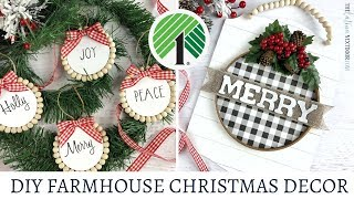 Dollar Tree Farmhouse Christmas DIY 2019 - Christmas in July