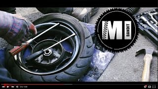 How to change your own Yamaha Cygnus Scooter Tyre