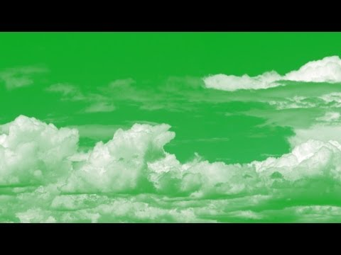 animated clouds on green screen