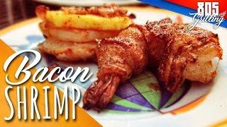 BACON WRAPPED SMOKED SHRIMP