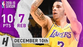 Lonzo Ball Full Highlights Lakers vs Heat 2018.12.10 - 10 Pts, 7 Reb, 4 Ast