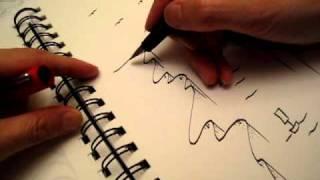 Scribble - between sky water and land
