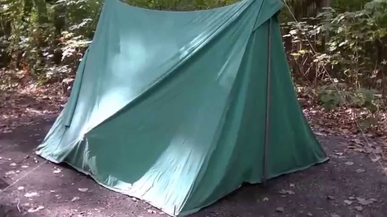 Boy scouts voyager canvas vintage a frame tent youtube for How to build a canvas tent frame