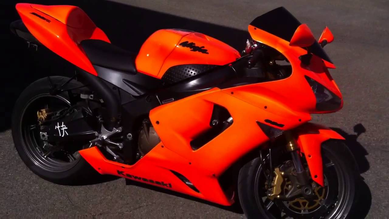 Kawasaki Zx6r 636 Orange Neon Paint