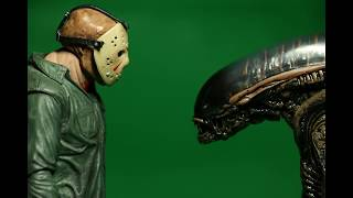 Stop Motion | Green Screen Alien vs. Jason