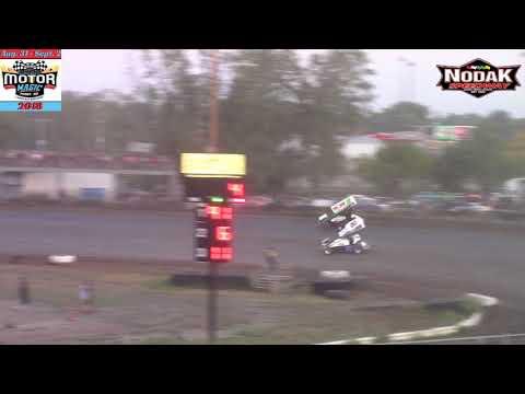 Nodak Speedway CAOSS Sprint Car A-Main (Motor Magic Night #2) (9/2/18)