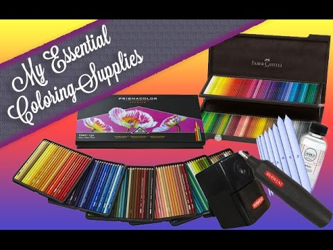 {Art Supplies} My coloring book essentials