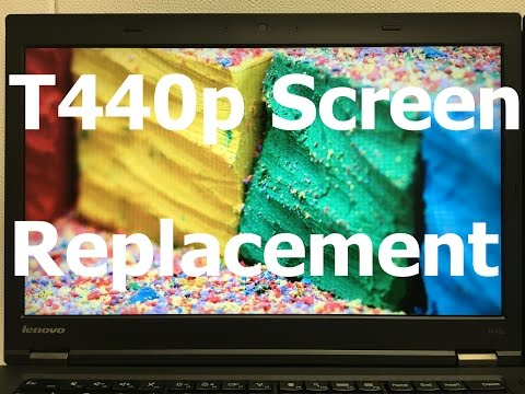 Laptop Screen Replacement / How To Replace Laptop Screen Lenovo ThinkPad T440p