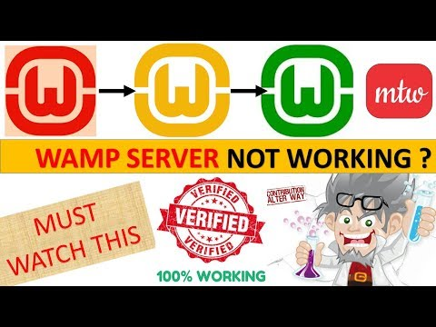 Wamp Server Not Working|Wamp Server Orange Icon Problem|MSVCR110.dll Is Missing|100% Working