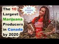 The 10 Largest Marijuana Producers in Canada by 2020 // Canadian pot stocks