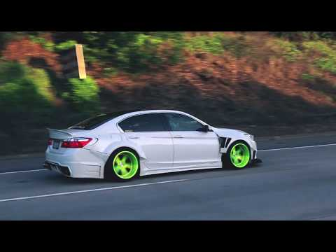 Bagged wide body 9th Gen Accord By Luxury Equips