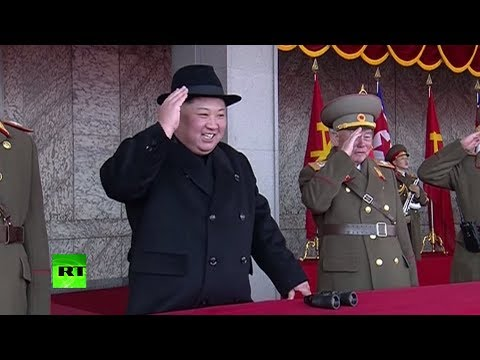 N. Korea showcases missiles, jets at military parade marking Army's 70th anniversary