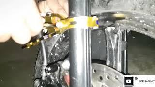 Cara pemasangan penjepit selang rem variasi di mio m3