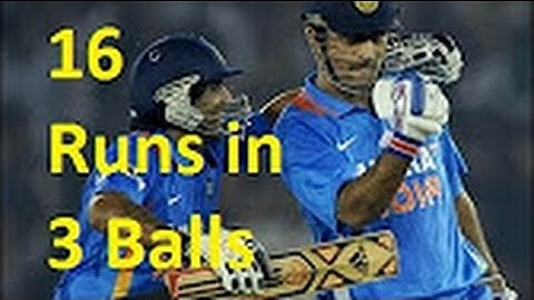 ms dhoni best finish  16 runs in 3 balls  last over thrilling finishes
