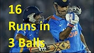 Ms Dhoni Best Finish | 16 Runs In 3 Balls | Last Over Thrilling Finishes