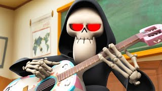 Spookiz  새로운 절기 3   해골 교사는 기타를습니다  어린이 만화  어린이를위한 비디오  WildBrain
