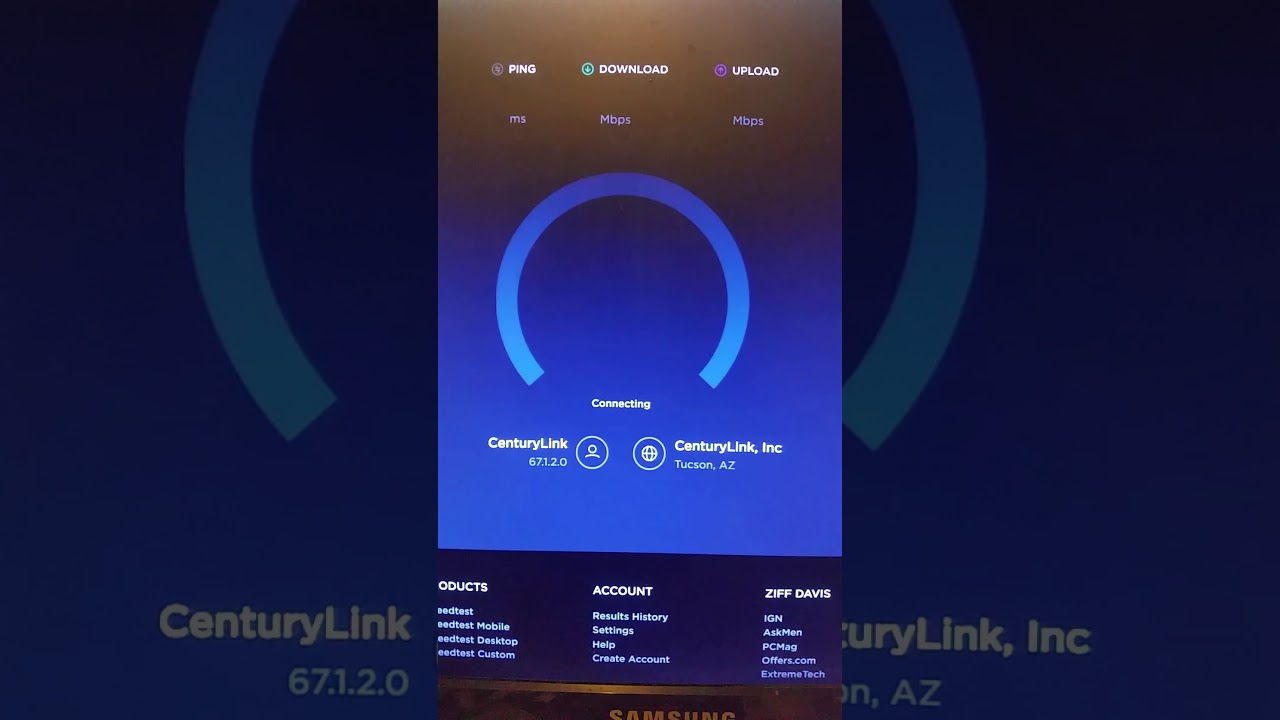 Centurylink's internet speeds a fraud. - YouTube