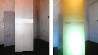 Покраска холодильника. Из обычного в золотой. Plain fridge to Gold fridge