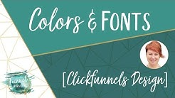 Clickfunnels Design Colors & Fonts