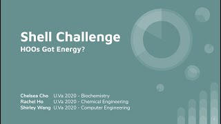 [Stanford Cleantech Challenge 2020] Shell Challenge - HOOs Got Energy?