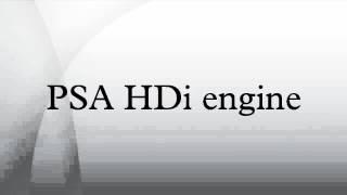PSA HDi engine