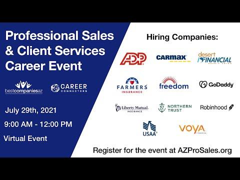 Professional Sales & Client Services Career Event