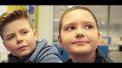 Mit Carolin, Noah und Luke auf der Kinderonkologie der Uniklinik Münster.