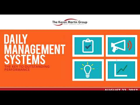 Daily Management Systems  The Key To Outstanding Performance