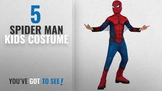 Top 10 Spider Man Kids Costume [2018]: Rubie's Costume Spider-Man Homecoming Child's Costume,