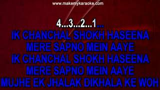 Ek Chanchal Shokh Haseena Karaoke With Lyrics | Baaghi | Abhijeet | Salman Khan