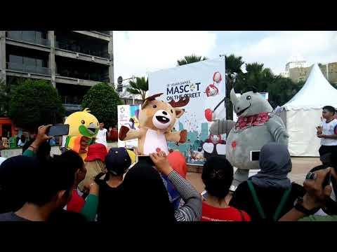 Car free day, Mascot on the street, 18th ASIAN GAMES Jakarta Palembang 2018