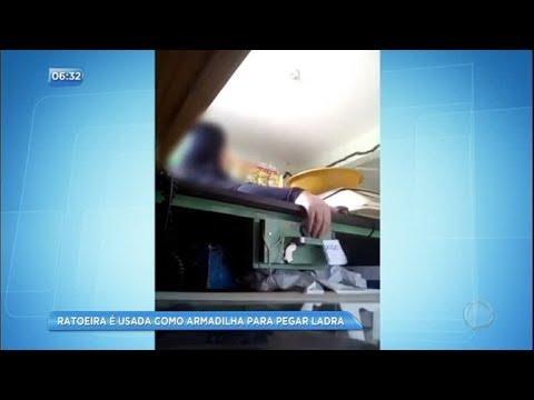 Ladra é surpreendida por ratoeira em armadilha contra roubo