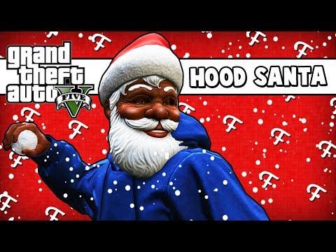 GTA 5: Meeting Hood Santa & N.P.P Elf Gang (Online Christmas - Comedy Gaming)