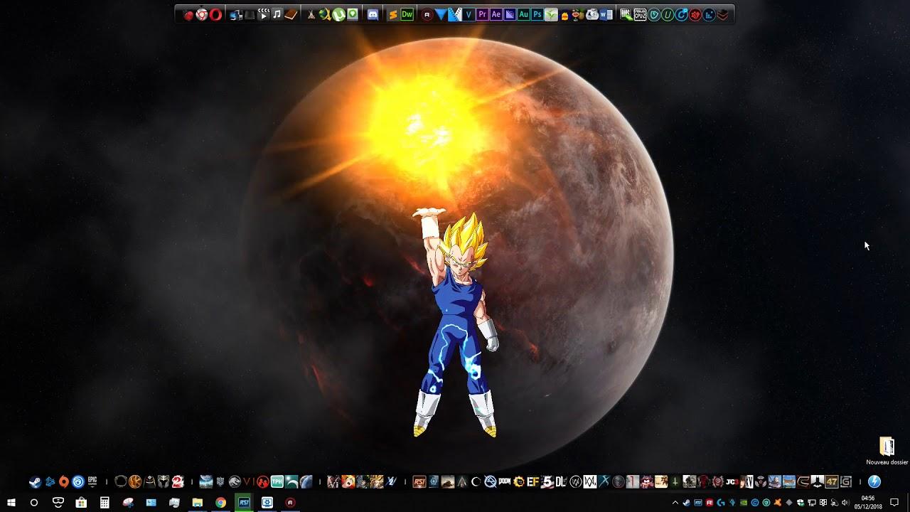 4k Wallpaper Engine Dragon Ball Z Vegeta Youtube