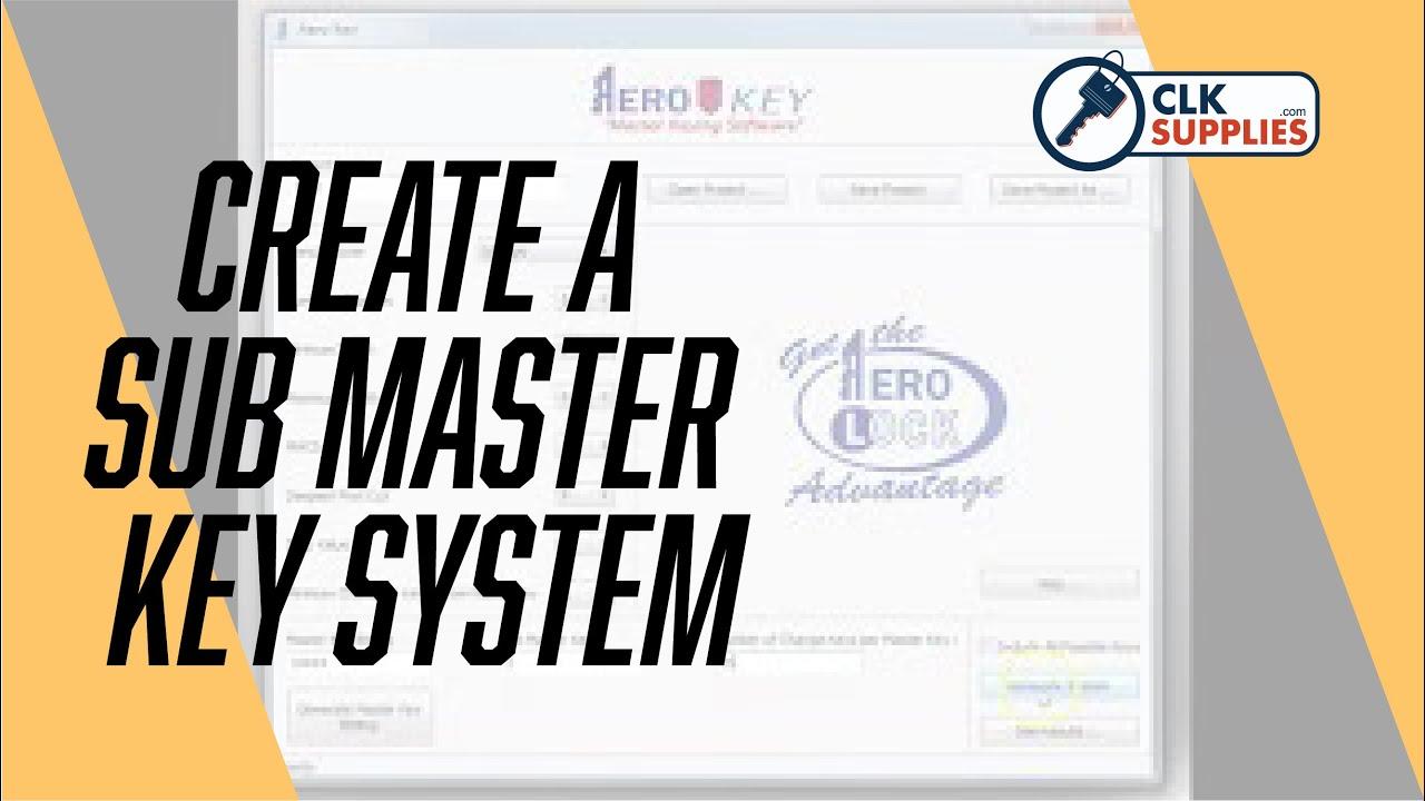 Aero Key Master Keying Software – CLK SUPPLIES, LLC