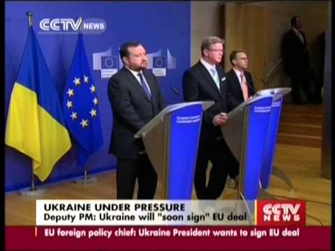"Deputy PM  Ukraine will ""soon sign"" EU deal"