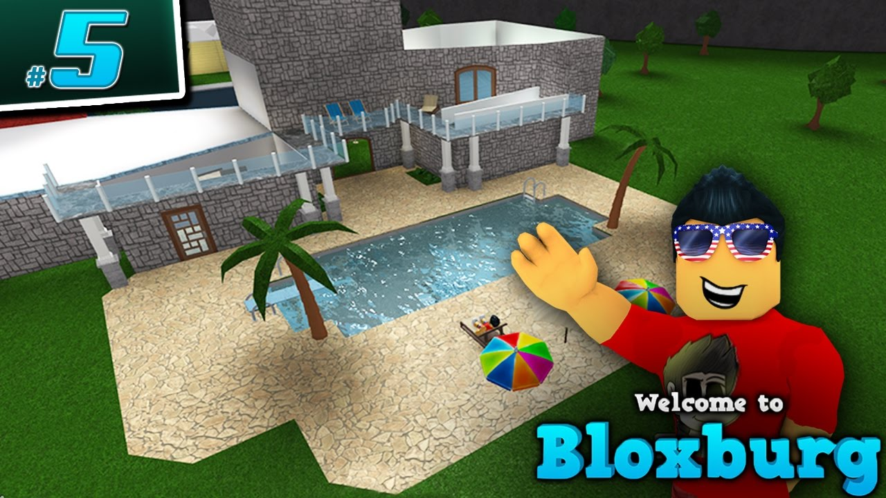 building a pool in welcome to bloxburg   - ep  5